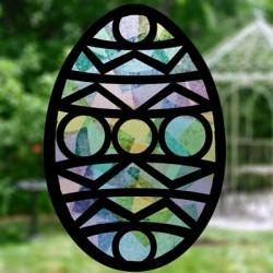Vitrail Oeuf de Pâques