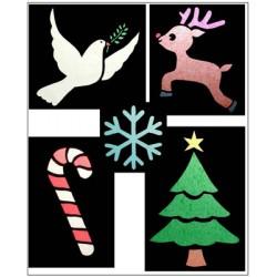 D'autres vitraux de Noël en papier de soie