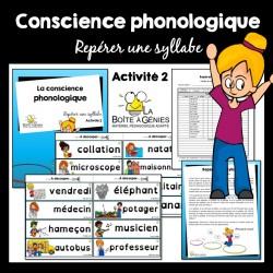 2 Conscience phonologique - Repérer la syllabe