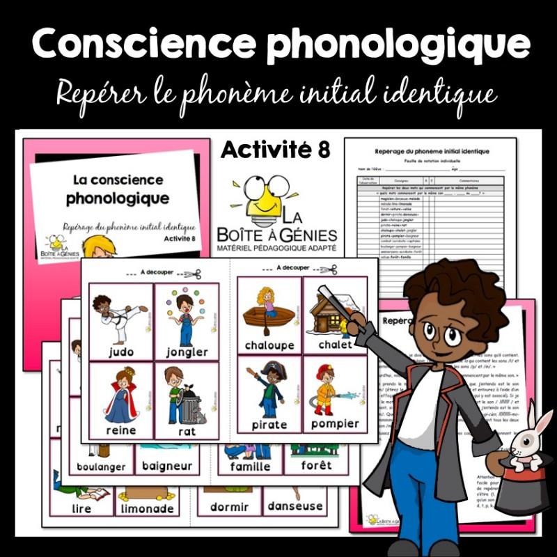 8 Conscience Phono Le Phonème Initial Identique