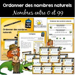 Ordonner des nombres naturels 0-99