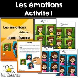 Les émotions - Activité 1