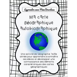 Carte géographique autobiographique