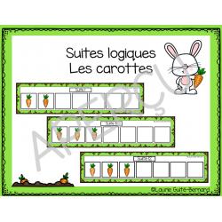 Suites logiques - Les carottes - La ferme