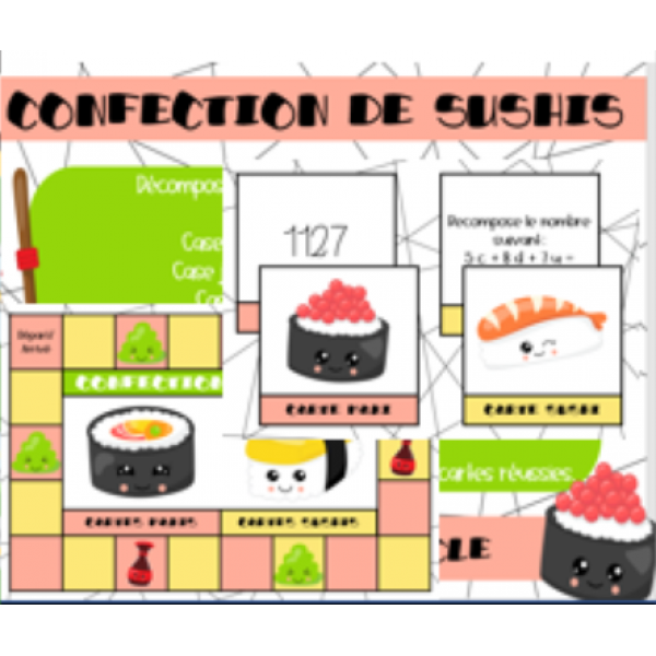 La confection de sushis
