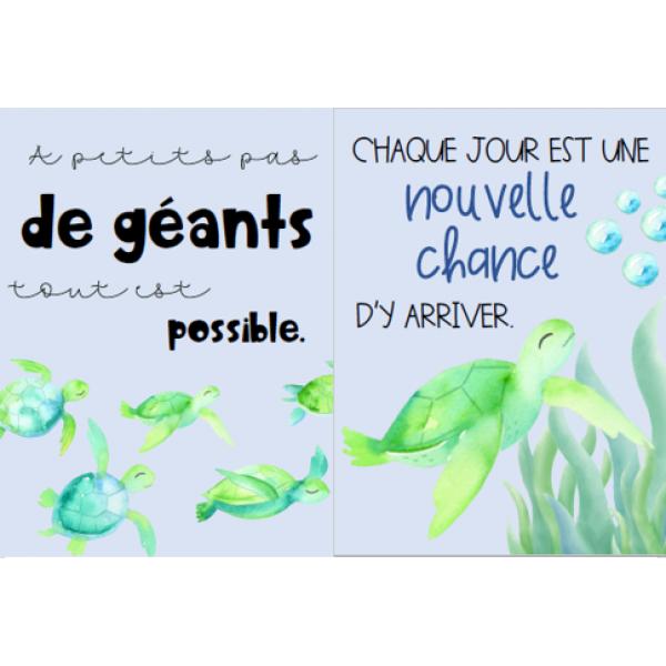 Affiches de motivation - Tortues de mer