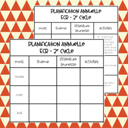planification annuelle ECR - 2e cycle
