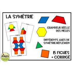 La symétrie (blocs mosaïques)
