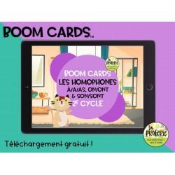 Boom cards  - Les homophones