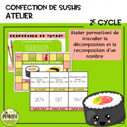 La confection de sushis