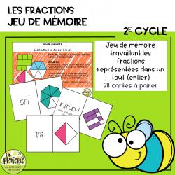 Jeu de mémoire - Les fractions