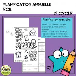 planification annuelle ECR - 2e cycle