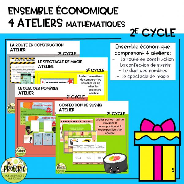 Ensemble économique (4 ateliers de numération)