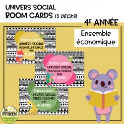 Univers social 4e année - Boom cards