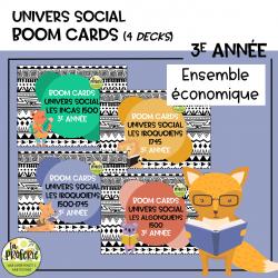 Univers social 3e année - Boom cards
