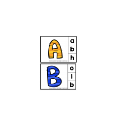 Cartes de l'alphabet - Épingles à linge