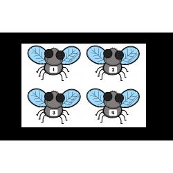 Jeu des mouches - Nombres