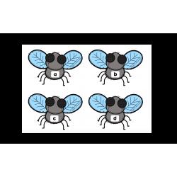 Jeu des mouches - Lettres minuscules