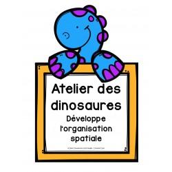 Jeu d'organisation spatiale - Dinosaures