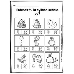 Entends-tu la syllabe initiale?