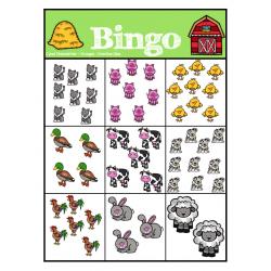 Bingo des chiffres (animaux de la ferme)
