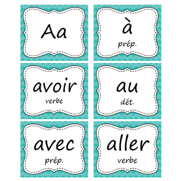 400+ Mots fréquents en français