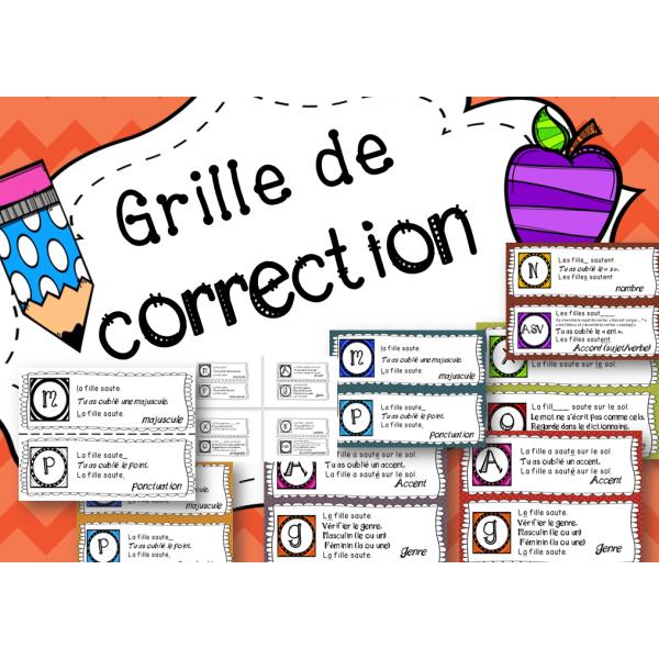 Grille de correction - Le code de correction