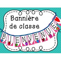"""Bannière de classe """"Bienvenue"""""""