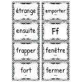 273 Mots fréquents - Mur de mots - Noir et blanc