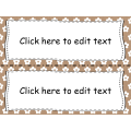 Étiquettes modifiables et imprimables- POWERPOINT