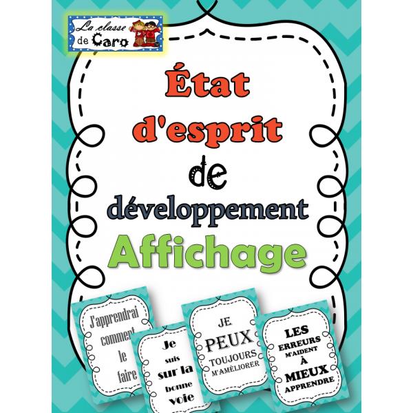État d'esprit de développement - Affichage