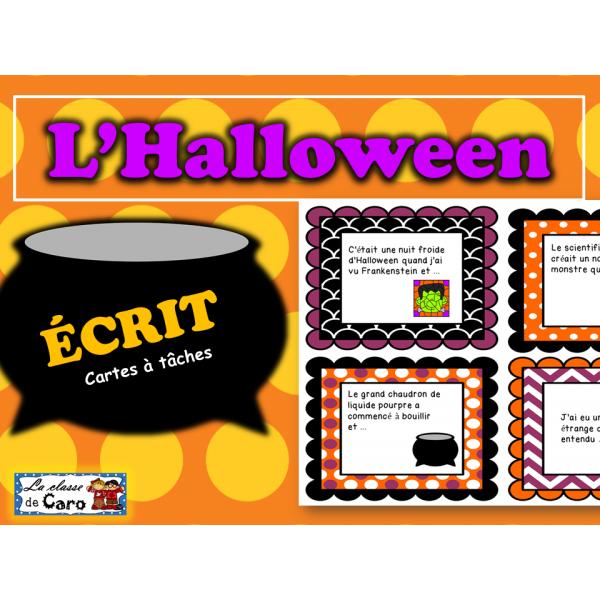 Cartes à tâches - ÉCRIT - Halloween