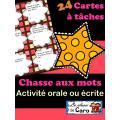 24 Cartes à tâches - LA CHASSE AUX MOTS