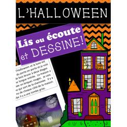 LIS OU ÉCOUTE ET DESSINE - L'Halloween