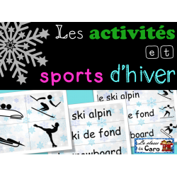 Sports OLYMPIQUES d'hiver - mur de mots