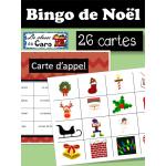 BINGO de NOËL en COULEUR - 26 CARTES!