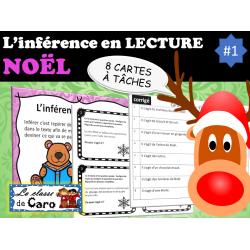 L'inférence en lecture - NOËL #1 - Cartes à tâches