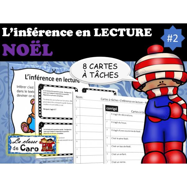 L'inférence en LECTURE - NOËL #2- Cartes à tâches