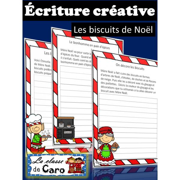 Écriture créative - Les biscuits de Noël