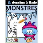 4 DESSINS À FINIR - MONSTRES (HIVER)