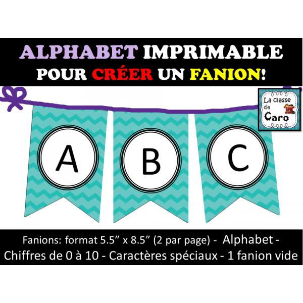 FANION ALPHABET IMPRIMABLE