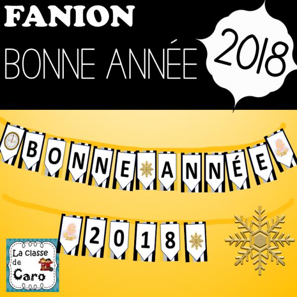 FANION - BONNE ANNÉE 2018