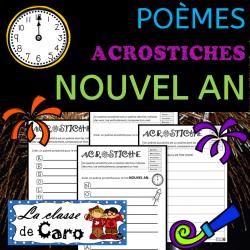 Le poème ACROSTICHE - NOUVEL AN