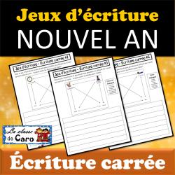 Jeux d'écriture - ÉCRITURE CARRÉE - Nouvel An