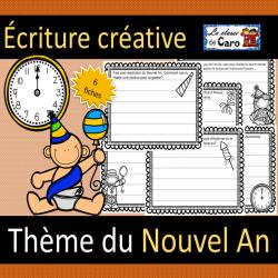 Écriture créative - NOUVEL AN - 6 fiches