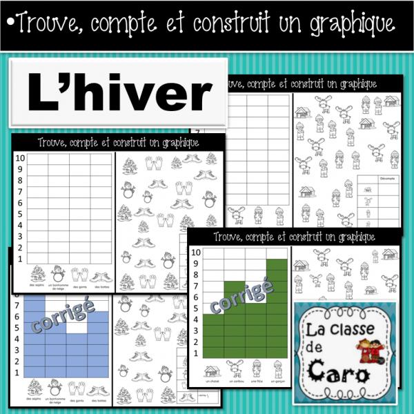 Trouve, colorie et construit un graphique - HIVER