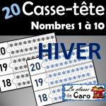 20 Casse-tête des nombres 1 à 20 - HIVER