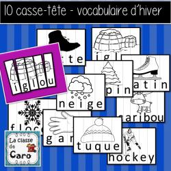 10 casse-tête de vocabulaire d'hiver