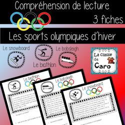COMPRÉHENSION DE LA LECTURE- OLYMPIQUES D'HIVER #1