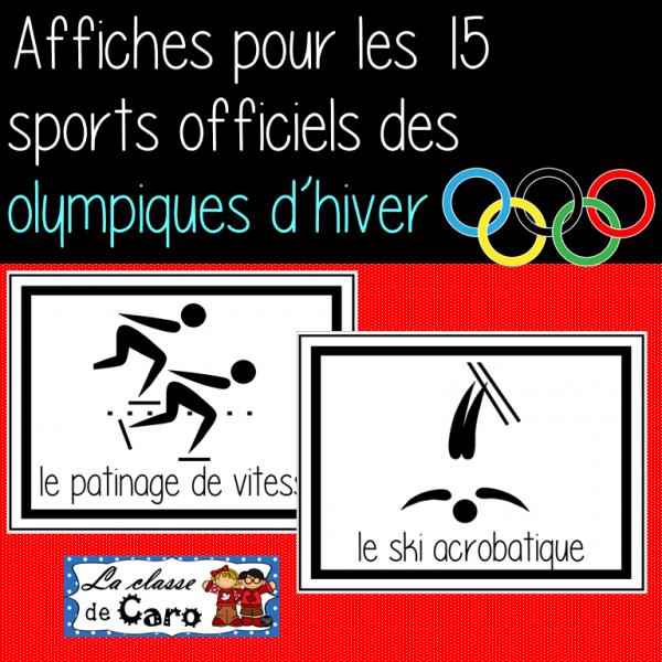 15 affiches pour les sports olympiques d'hiver